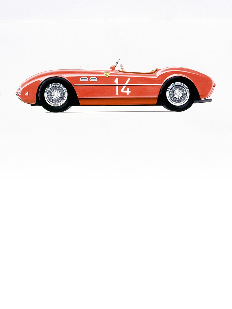 Ferrari 735 S: The in-line 4-cylinder Ferrari engine started out its career in the 1950 Formula 2 Championship.