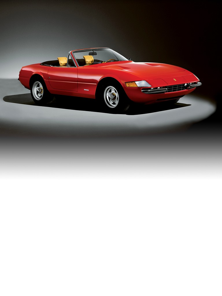 The convertible version of the ferrari 365 GTB4 made its debut at the 1969 Frankfurt Motor Show.