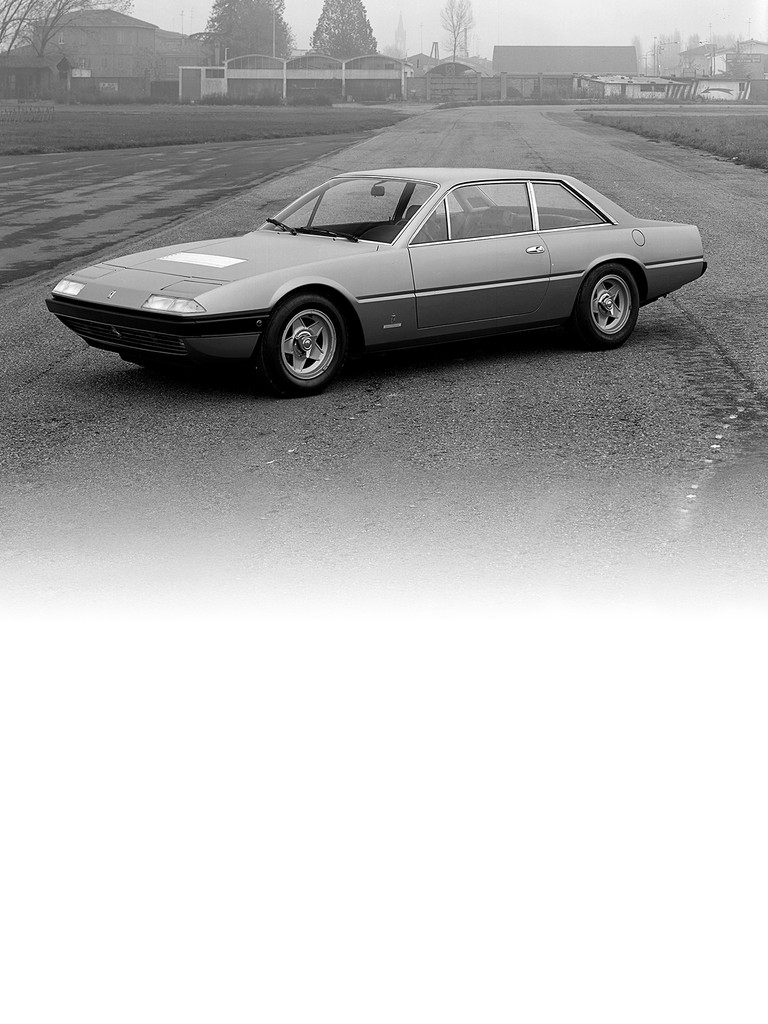 Ferrari 365 GT4 2+2: This was a brand new design from Pininfarina, which faced the task of developing a fast, svelte and elegant 2+2 powered by the classic VI2 engine.