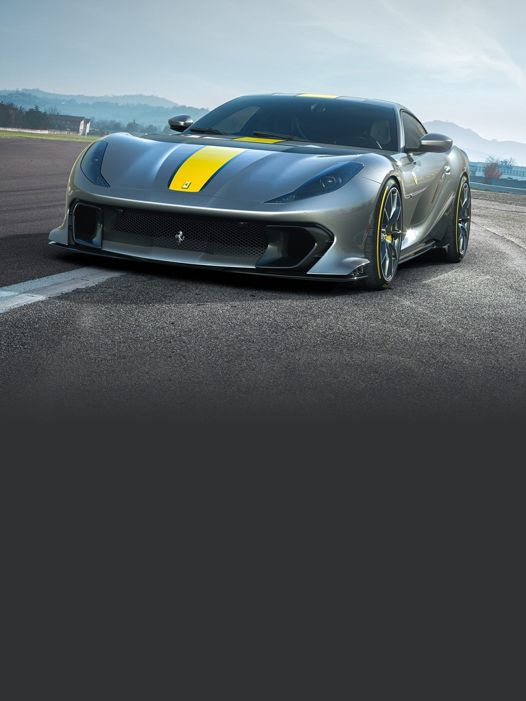 The Ferrari 812 Competizione, spectacular Targa-top version limited-series, is an homage to the Prancing Horse's glorious open-top tradition and hones the characteristics of the 812 GTS to a level never seen before.